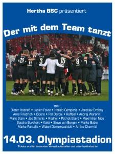 Plakat: Der mit dem Team tanzt